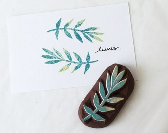 leaf hand carved rubber stamp.leaf stamp,Leaf rubber stamp.garden stamp.wedding stamp,Unmounted