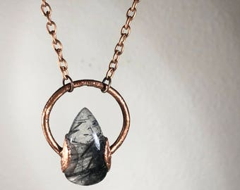 Chloe Necklace - Rutilated Quartz