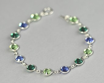 Custom Crystal Birthstone Bracelet, Personalized Bracelet, Mother's Bracelet, Birthstone Jewelry Grandmother's Bracelet