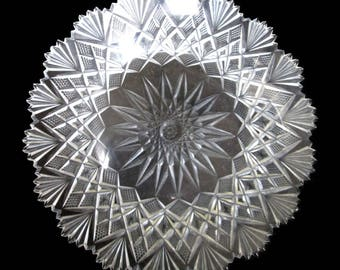 "ABP Straus Cut Glass, VENETIAN 7 1/4"" Plate ca. 1893, FREE shipping"