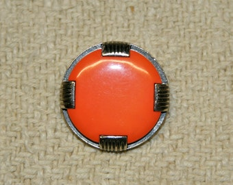4 vintage buttons made of plastik 27 mm