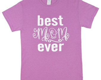 Best Mom Ever Heather Radiant Orchid T Shirt WAS 16.62 NOW 9.97