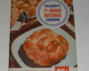Pillsbury's 7th Grand National Cookbook Vintage Softcover Book 1956