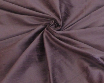 "Unique Purple 100% dupioni silk fabric yardage By the Yard 45"" wide"
