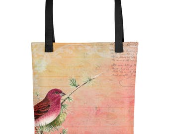 Beautiful Red Bird Tote Bag