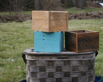 Rustic wood boxes for Flowers/Weddings /Centerpieces/Home Decor/Storage