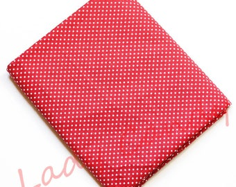 45x50cm red dot fabric / Cotton / sewing Patchwork making garment #7330