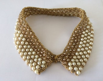 Vintage Hand Made Beaded Collar