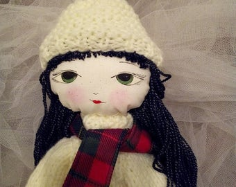 Ragdoll/hand made doll/soft doll/textile doll/pretty doll
