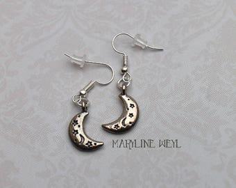 Silver Moon earrings