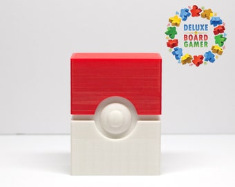 Pokeball Deck Holder for Pokemon or other cards - Holds 60+ sleeved cards