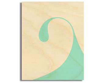 "Surf Art Wood Print Limited Edition ""Arco"""