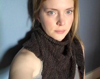 Purple triangle scarf and shawl