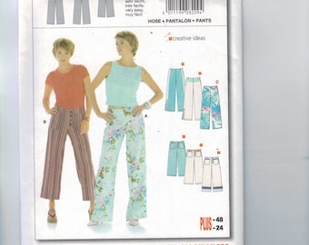 Misses Sewing Pattern Burda 8209 Misses Wide Leg Pants Cropped Size 10 12 14 16 18 20 22  UNCUT