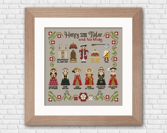 Henry VIII and his Wives - PDF cross stitch pattern