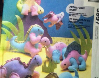 Vintage McCall Crafts Prehistoric Babies Patterns