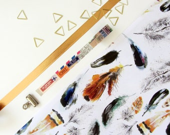 British Bird Feather Wrapping Paper