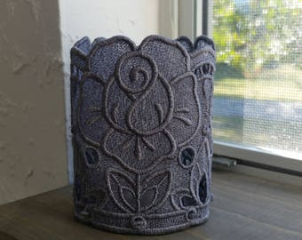 Rose freestanding lace tealight