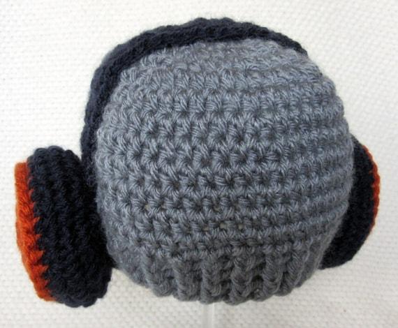 häkeln Sie Kopfhörer-Baby-Mütze DJ-Geschenke Neugeborenen