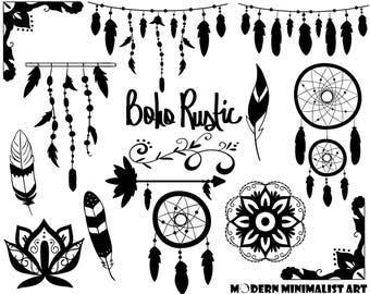 Boho Rustic Black – 15 PNG Images