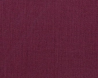 6.5 oz Sanded Brushed Cotton Twill Fabric BURGUNDY Apparel Clothing Crafts Home Decorating