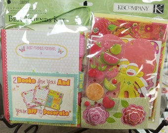 K&Company BerrySWEET Mini Album Kit  --  Rub-Ons  --  Best Friends Kit