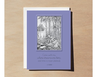 Greeting Card - Peter Pan - Come With Me