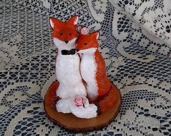 Fox Wedding Cake Topper Woodland Wedding Cake Topper Gift