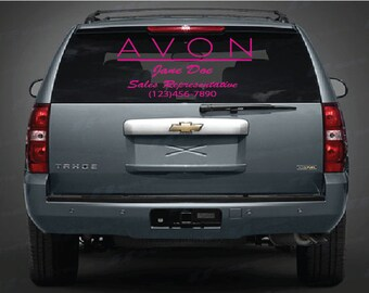 Personalized AVON Decal for your business