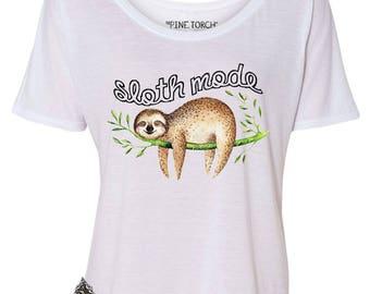 Funny Sloth Tee, Sloth Mode Tee, Sloth Mode Women's Shirt, Funny Sloth, Sloth Gift, Sloth Mode Shirt, Sloths