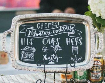 Custom Hand Lettered Wedding Sign