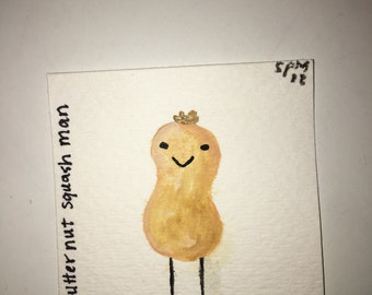 Tiny Fruit Painting - BUTTERNUT SQUASH