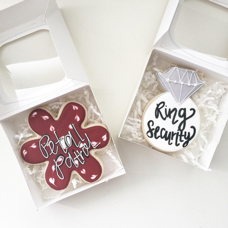 Flower Girl Cookies Ring Bearer Cookies Will You Be Wedding