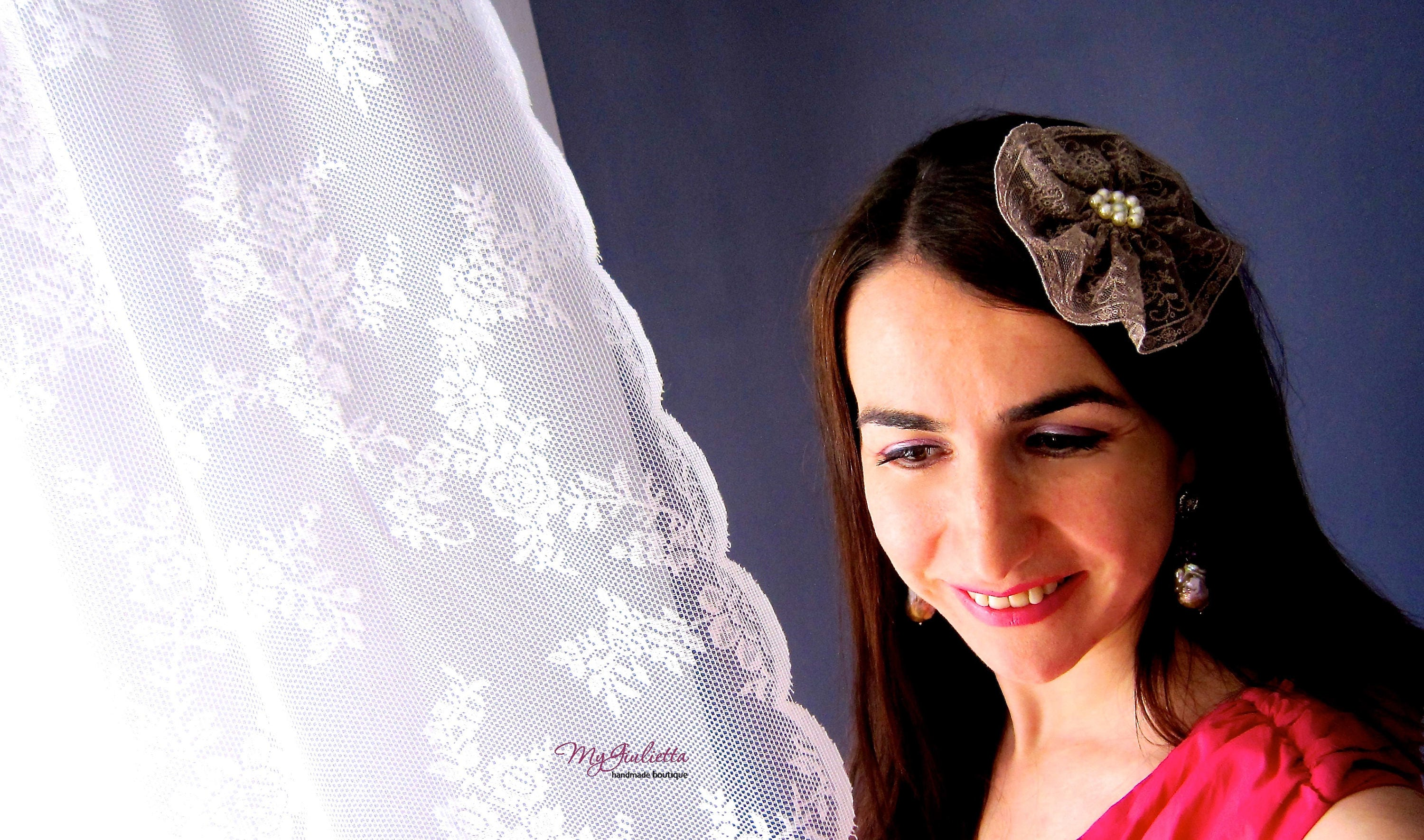 Beige Mauve Flower Clip Special Accessory For Hair Maternity