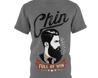 Chin Full Of Win - Unisex Aop Cut  Sew Tee