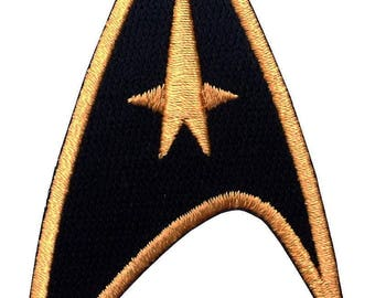BLACK Star Trek Command Cosplay Patch