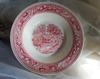 1960s Vintage // Medium Size Vegetable Bowl // Royal China USA // Memory Lane Pattern