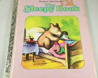 Vintage Little Golden Book ~ THE SLEEPY BOOK by Margaret Wise Brown ~ Children's Book Bedtime Story Reading