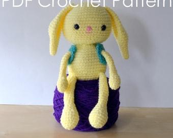 Spring Bunny Crochet Amigurumi Doll PDF Pattern