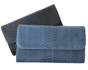 Crocodile print Leather bag crocodile print leather clutch gift for her leather clutch pink leather clutch red leather clutch pink crocodile