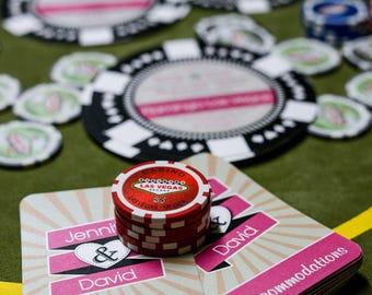 Las Vegas wedding invitations - Custom made poker chip wedding invites | Handmade in Canada by  ---- www.empireinvites.ca ---