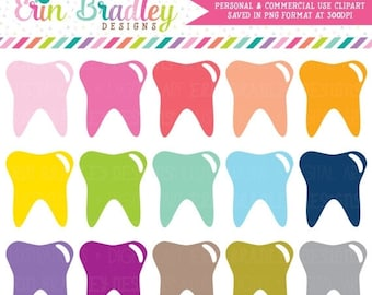 80% OFF SALE Tooth Clipart, Dentist Clip Art Graphics, Teeth Clipart, Planner Clip Art, Commercial Use OK