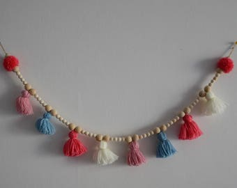 Garland Tassels, tassels and wooden beads