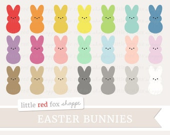 Marshmallow Bunny Clipart, Easter Candy Clip Art, Candy Clipart, Easter Clipart, Cute Digital Graphic Design Small Commercial Use
