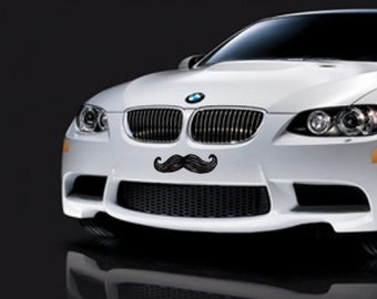 Mustache Car Sticker Vinyl Decal for  Bumper or Hood
