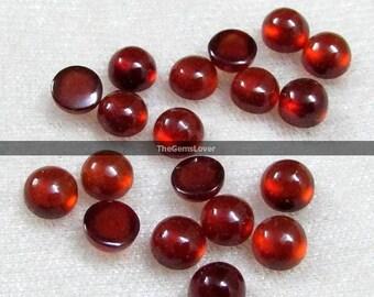 10 pieces 5mm Hessonite Garnet round cabochon gemstone AAA+ quality Natural Hessonite Garnet cabochon round loose gemstone