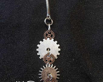 Cog and Gear Keychain