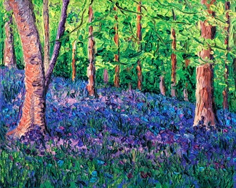 Giclee print, Bluebell Forest, 8 x 10 in.