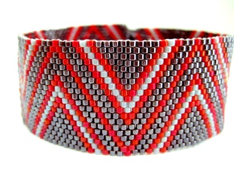 Peyote Bracelet Pattern - Zig-Zag 2 - INSTANT DOWNLOAD PDF - Peyote Stitch Bracelet Pattern -  Peyote Chevron Pattern - One Drop Even Peyote
