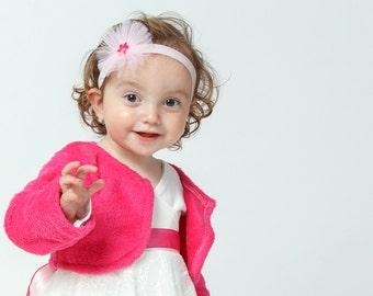 Pink Fleece jacket for baby girls - Baby shower gift idea